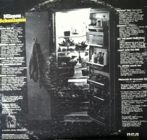 Back cover, Nilsson Schmilsson