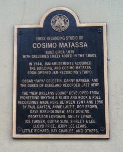 At the site of Matassa's studio