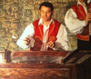 A happy cimbalom player