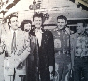 Webb (2nd from rt.) & Pals